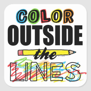 Color Outside The Lines Square Sticker