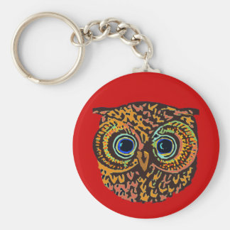 color owl key chain