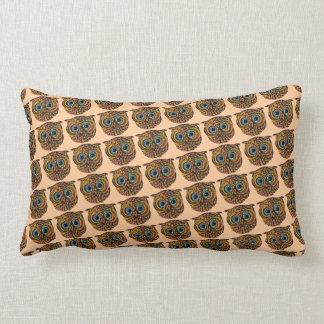 color owl lumbar pillow