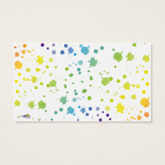Color Paint Drips Card