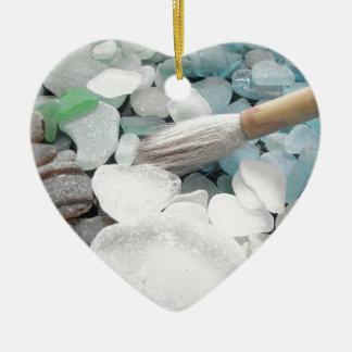 Color Paint Sea Glass Ceramic Ornament