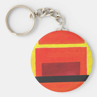 Color Painting by Olga Rozanova Keychain