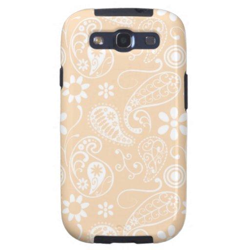 Color Paisley de la sopa de mariscos; Floral Samsung Galaxy S3 Fundas