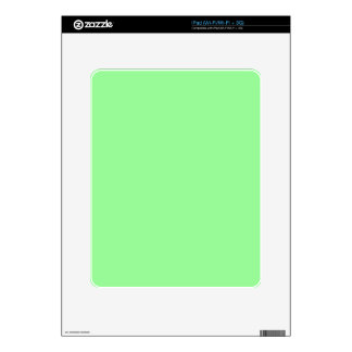 color pale green decal for iPad