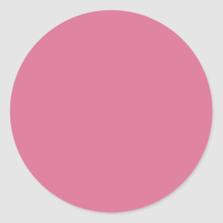color pale violet red classic round sticker