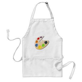 color palette adult apron