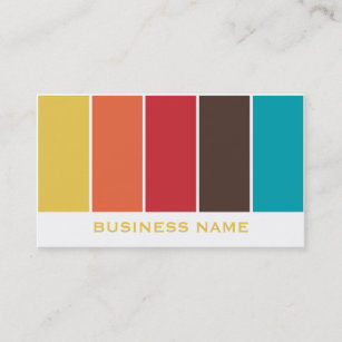 Color palette business cards zazzle color palette business card template reheart Gallery