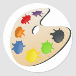 color palette round stickers
