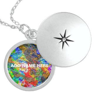 Color palette sterling silver necklace