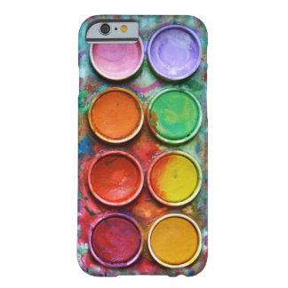Color Pallete de la caja de pinturas Funda De iPhone 6 Barely There