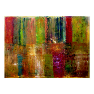 Color Panel Abstract Poster
