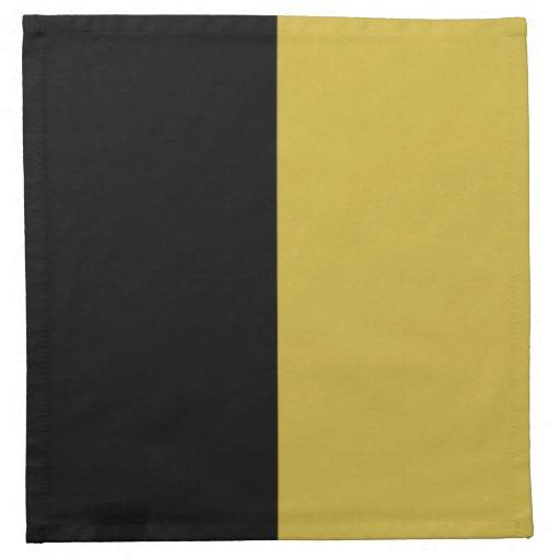 Color partido del oro negro y viejo servilletas