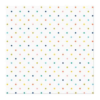 Color Pastel Dots Pattern Design Template Canvas Print