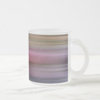 color pattern 8 frosted glass coffee mug