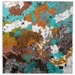 Color Pattern Block Mix Printed Napkin