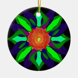 Color pedals orniment ceramic ornament
