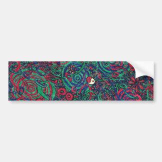 Color Pen Doodle 02 Bumper Sticker