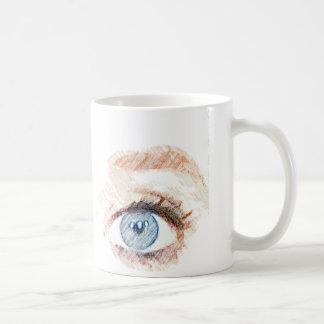 Color pencil Blue Eyes Coffee Mug