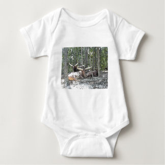 Color Pencil Longhorns Baby Bodysuit