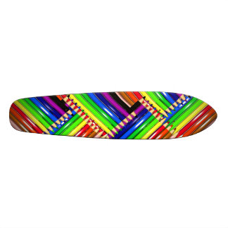color pencil skateboard cover