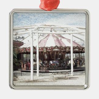 Color Pencil Sketch of Antique Carousel Metal Ornament