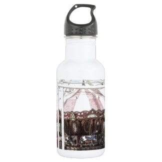 Color Pencil Sketch of Antique Carousel Stainless Steel Water Bottle