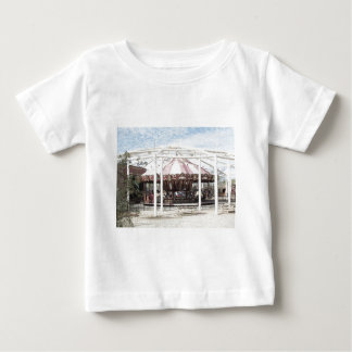 Color Pencil Sketch of Antique Carousel Tee Shirt
