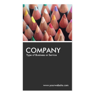 Color Pencils - 80pc Gray Double-Sided Standard Business Cards (Pack Of 100)