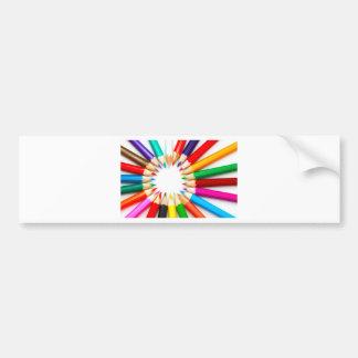 Color Pencils Bumper Sticker