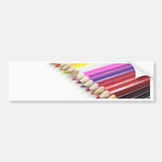 Color Pencils Bumper Sticker