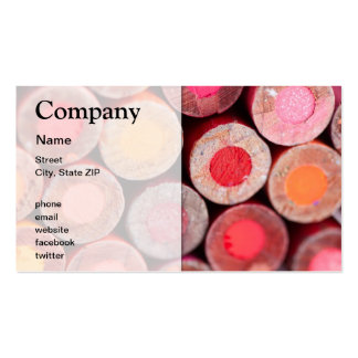 Color Pencils Double-Sided Standard Business Cards (Pack Of 100)