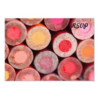 Color Pencils 3.5x5 Paper Invitation Card