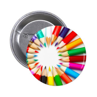 Color Pencils Pinback Button