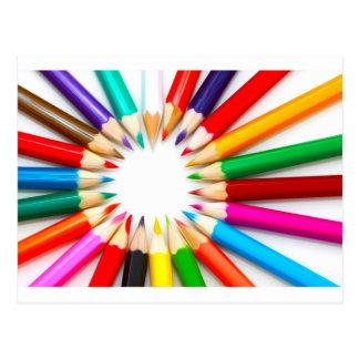 Color Pencils Postcard