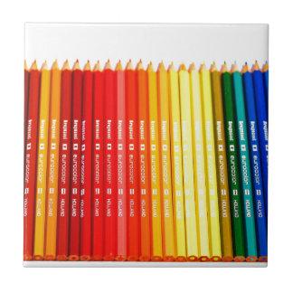 Color pencils tile
