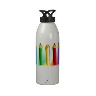 Color Pencils Drinking Bottles