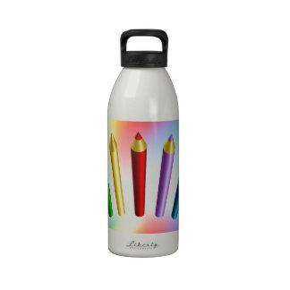 Color Pencils Water Bottles