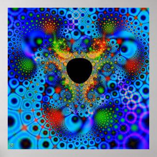 Color perdido. agujero del fractal de la impresión impresiones