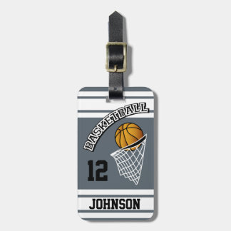 Color personalizado del baloncesto DIY Etiquetas Para Maletas
