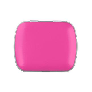 Color personalizado rosa eléctrico de la tendencia frascos de dulces