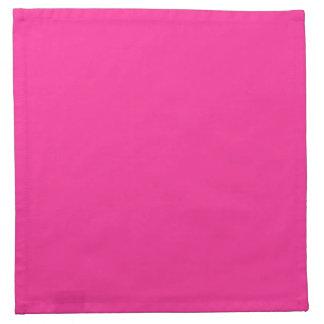 Color personalizado rosa eléctrico de la tendencia servilletas de papel