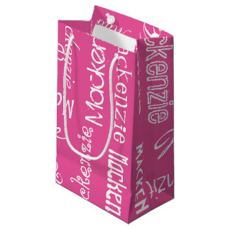 Color personalizado y de encargo bolsa de regalo pequeña