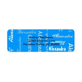 Color personalizado y de encargo etiquetas de remite