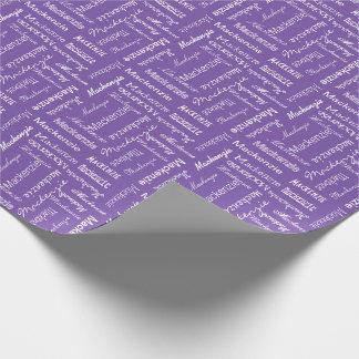 Color personalizado y de encargo papel de regalo