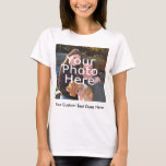Color Photo and Message Women's T-Shirt