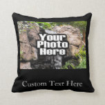 Color Photo Personalized Throw Pillow