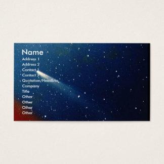 Color photograph of the comet Kohoutek Business Card