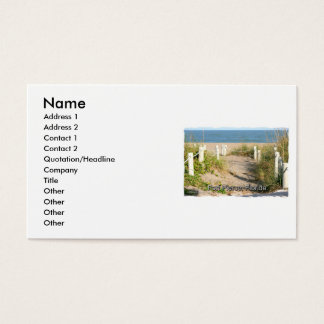 Color picture of beach dune walk Ft. Pierce, FL Business Card