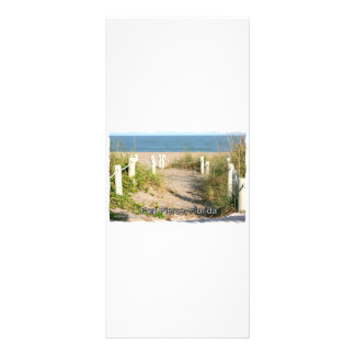 Color picture of beach dune walk Ft. Pierce, FL Personalized Rack Card