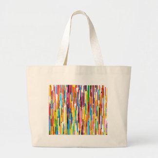 Color Pikes Pattern Large Tote Bag